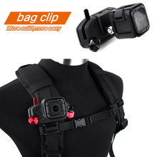 hot deal buy sports nylon action cameras mount clips loading backpack waist belt mount clip strap buckle for gopro hero 3/3+/4/5/6/7