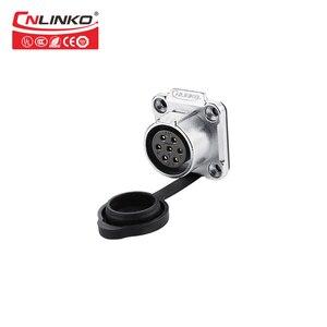 Image 5 - CNLINKO LP סדרת M20 7 פין 20A 500V IP67 עמיד למים תקע שחור עגול מחבר עבור ציוד תעשייתי אות מחברים