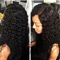 Человеческие Волосы 100% 130% Lacefront Парик Человеческих Волос Салон Глубокая Волна Переплетения Парик шнурка Дешево Полный Парик Шнурка Волна Воды Реми волос