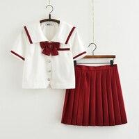 British fashion Japanese school uniform skirt JK uniform Class uniforms Sailor suit College wind Suit Female Students uniforms
