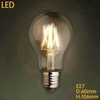 Lightinbox Retro Lampa Lampara Żarowe Żarówka Węgla Vintage Edison Żarówki Światła 4 W/6 W/8 W A19 E27 220 V LED