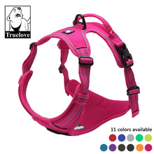 Truelove No Pull Padded Pet Dog Harness 3M Reflective Nylon Front Range Vest Harness for Dogs Adjustable Straps Bulldog Pug