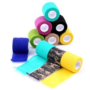 Image 3 - 10Pcs Waterdichte Beveiliging Zelfklevende Samenhangend Verband Elastische Wrap Ehbo Sport Body Gaas Dierenarts Medische Tape