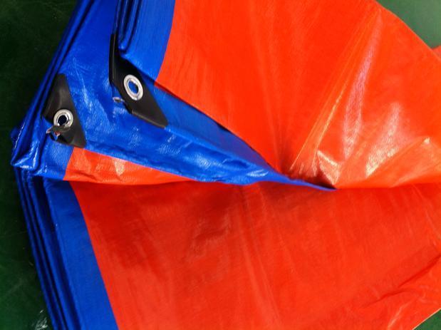 Personalizar 6 m X 8 m Azul e laranja bens ao ar livre coberto de lona, pano impermeável, sapatas de lona, lona chuva, encerado de caminhão,