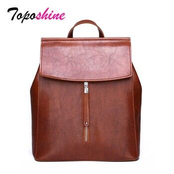 9b4a4deaf7c2 Toposhine Высокое качество женский рюкзак Новый Модный повседневный Дикий  большой емкости рюкзак для путешествий Многофункциональный рюкзак