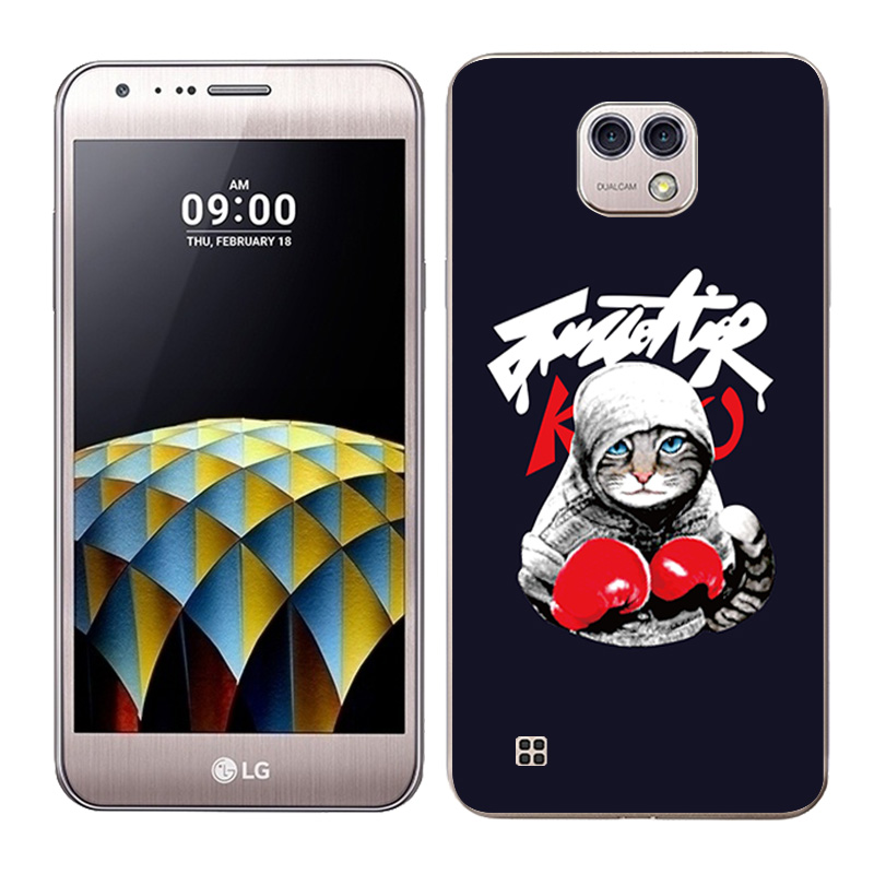Fundas For LG X Cam K580 Silicone Cases Boxing Painted Rubber Clear TPU For LG X Cam K580 K580DS Phone Cases Cover Capa