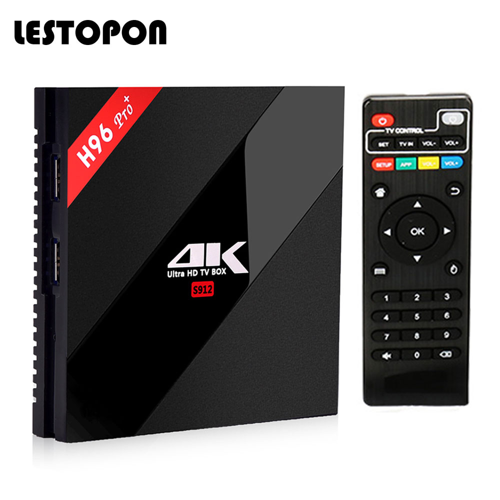 LESTOPON Hot Sale Android TV Box 4k H96pro Plus 6.0 OS Amlogic S912 Octa Core Television HD Bluetooth 64 Bit tvbox Media Player ботинки трекинговые jack wolfskin jack wolfskin ja021amwhz57