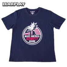 Rick och Morty gör America Schwifty Again T-shirt Blått Sommar bomull Tee Vuxen Toppar För Kvinna Man