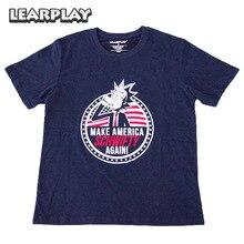 Rick and Morty Make America Schwifty Again Футболка Синяя летняя хлопчатобумажная футболка Взрослые топы для женщины Мужчины