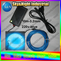 KTV Party Outdoor Indoor Decoration 3 2mm Flexible Neon Light Strip Rope El Wire 10M