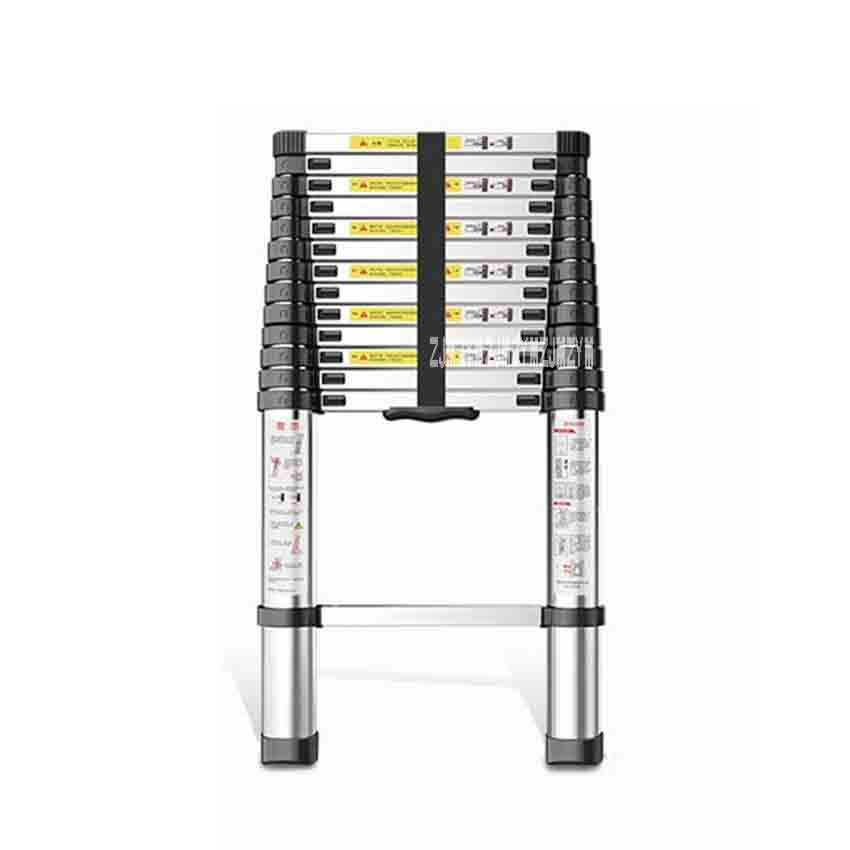 DLT-A Single-sided Straight Ladder 4.1 Meters Telescopic Ladder High-quality Thickening Aluminum Alloy Portable 14 Steps Ladder