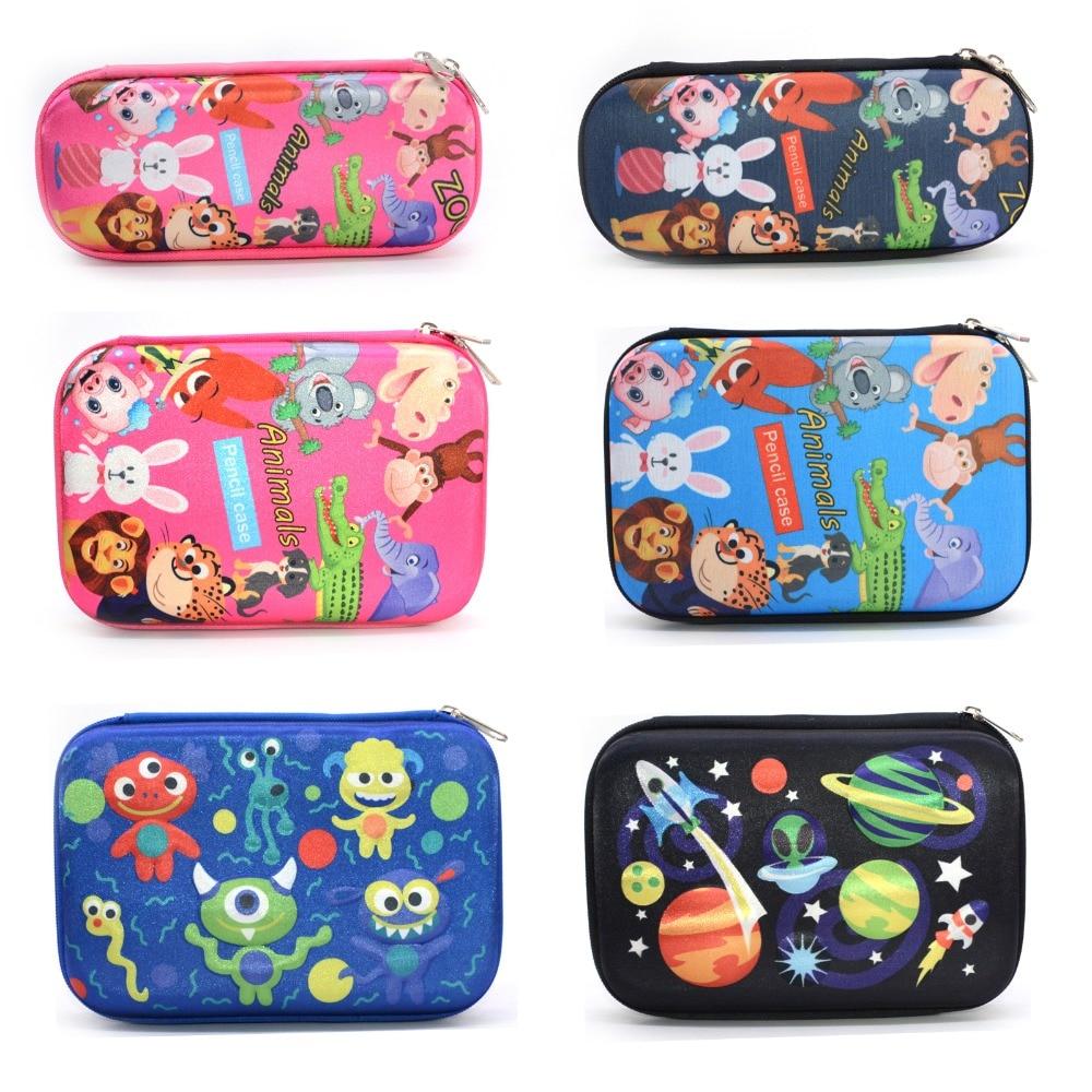 Pencil Case School Supplies Kalem Kutusu Lapices Box Plumier Scolaire Fille Holographic Animal Pouch Etui Pennen Kawaii Eva