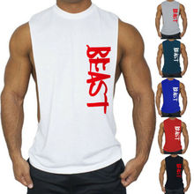 Men Summer Bodybuilding Tank Top Muscle Stringer Athletic Fittness Shirt Clothes Men Cotton Hot Top Gym Clothing