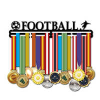 Medal hanger for football Metal medal holder Sport medal display rack for 32~45 medals