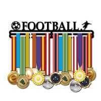 Medalla suspensión metal fútbol titular de la medalla deporte medalla pantalla rack para 32 ~ 45 medallas