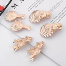 imixlot Gold Color Natural Shell Starfish Dangle Earrings Big Fan Silver Sea Exaggerated Fashion Jewelry