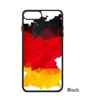Allemagne Berlin Ville Pays Nationale repère drapeau Carte Rouge Jaune noir Cas de Téléphone pour iPhone X 7/8 Plus Cas Phonecase couverture