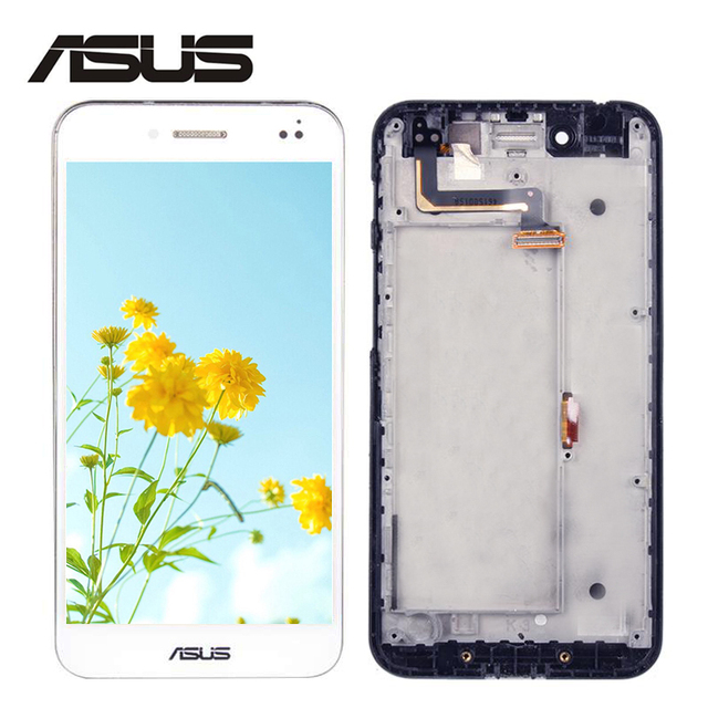 For ASUS PadFone S PF500KL PF500 PF-500KL T00N LCD Display Matrix Touch Screen Digitizer Assembly With Frame Replacement Parts