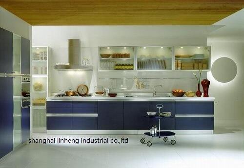 Melamine/mfc Kitchen Cabinets(LH-ME003)