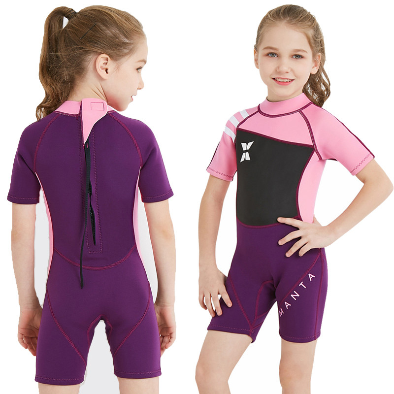 7bba3f922a 2.5mm Neopreen Diving Suits UV Protection Thermal Swimwear Warm Swimsuit  Kid Full Body Snorkelling Bodysuits Rash Guard