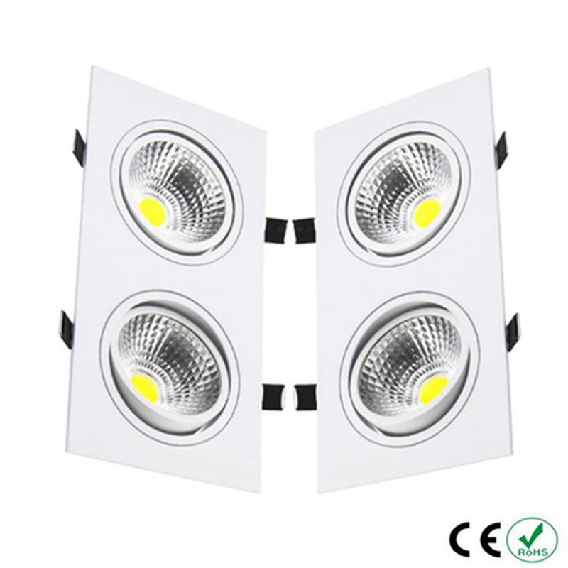 1pcs high power aluminum led cob 6w 10w 14w 2 head dimmable ceiling lamp cob ac110v 230v ceiling