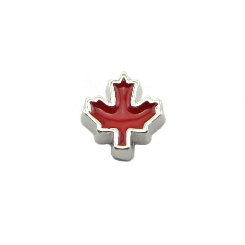 Wholesale living canada maple leaf floating Charms