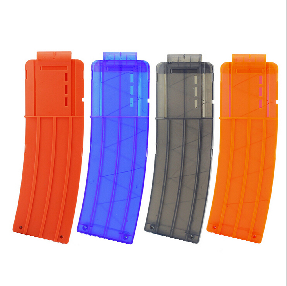 Newest 15 Reload Clip Magazines Round Darts Replacement Plastic Magazines Toy Gun Soft Bullet Clip For Nerf N-Strike Elite