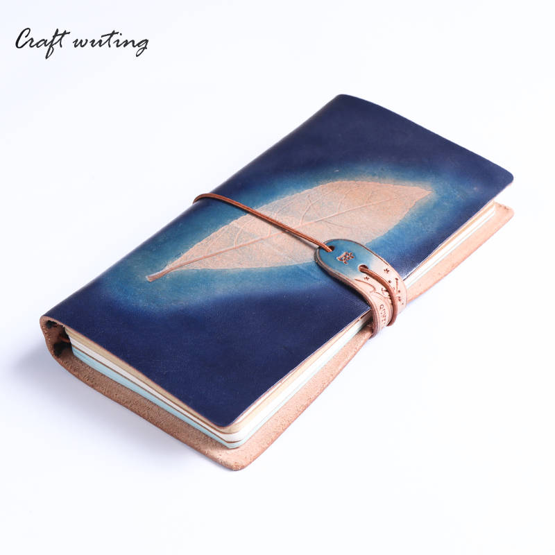 где купить  leather notebooks with tree leaves printed weekly planner agenda  childhood record the life travelers school notebook laptop  по лучшей цене