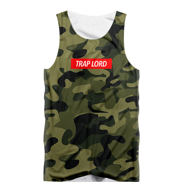 0ed50deaee941 Fashion Funny Vest Army Green Camouflage Print Men Tank Top 3d Sleeveless  Shirt Bodybuilding Undershirt fitness tanktop