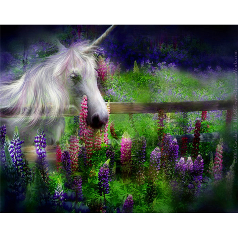 Full Square Diamond Embroidery masaic 3D Diamond Painting Wall Decor drill rhinestone pasted Crafts gift unicorn flowers A5508R