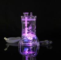 1pcnew Дизайн бросился изогнуты Тип табака трубы дистанционного управления кальян свет + волшебный Smooking кальян