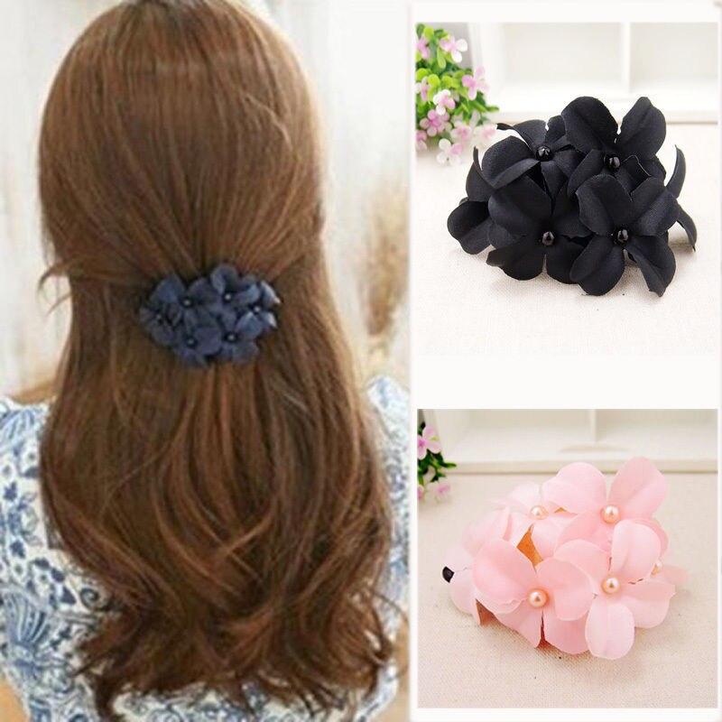 1PC Nice New Womens Girls Flower Banana Cip Barrette Hair Clip Hair Pin Hair Claw Accessories