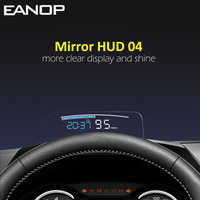 EANOP HUD Spiegel 04 Auto Head up display Windschutzscheibe Geschwindigkeit Projektor Sicherheit Alarm Wasser temp Überdrehzahl RPM Spannung