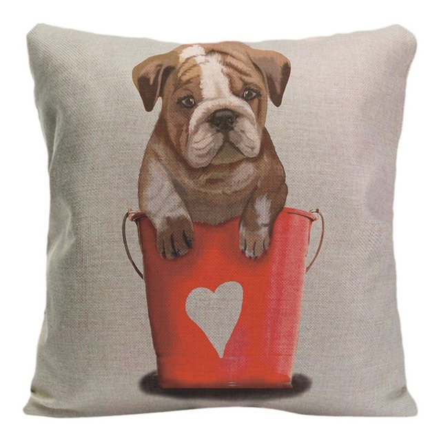 Merveilleux Cute Pug Cushion Cover Decorative Pillow For Sofa Car Chair Covers Lovely Pet  Dog Pillow Case