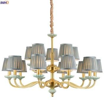 IWHD nórdico cobre Creamic LED lámparas para comedor Sala dormitorio ...