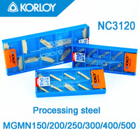 NC3120 MGMN150 MGMN200 MGMN250 MGMN300 MGMN400 MGMN500 10pcs/set Processing steel KORLOY CNC carbide insert Free shipping
