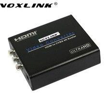 Voxlink высокое качество 4 К 1080 P hdmi к av композитного скейлер конвертер hdmi для cvbs r/l адаптер box для hdtv pc Latptop