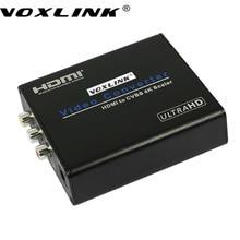 VOXLINK High Quality 4K 1080P HDMI to AV Composite Scaler Converter HDMI to CVBS R/L Adapter Box For HDTV PC Latptop