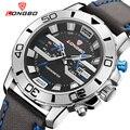 Mens Relógios Top Marca de Luxo Homens Esportes Relógios Homens De Couro Moda Casual Quartz Relógio de Pulso À Prova D' Água Relogio masculino 80189