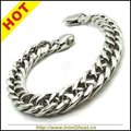 Wholesale Lots Mens Boys Fashion Silver Bracelet Stainless Steel Bangle Charm Chain Biker Punk Hot