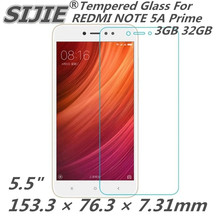цена на Tempered Glass For XIAOMI REDMI NOTE 5A Global Prime 5.5 inch 3GB 32GB Screen protective cover smartphone case HD on toughened