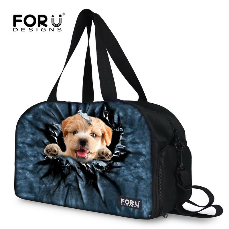 87107d2b4db1 Man Woman Portable Travel Commercial Bag Cat Dog Printed Cross Body Bag  With Independent Shoes Space Messenger Bags FORUDESIGNS-in Travel Bags from  Luggage ...