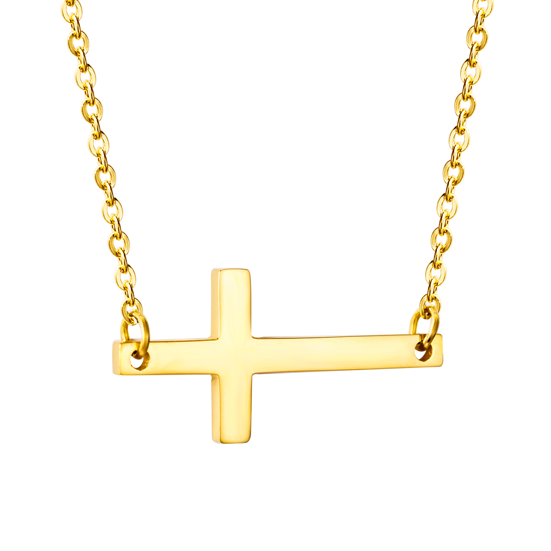 Retro Cross Jewelry Steel Necklace Pendas