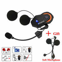 Freedconn T-Max Motorcycle Helmet Bluetooth Intercom Headset 6 Riders Group Talking FM intercomunicador moto + Soft Earpiece