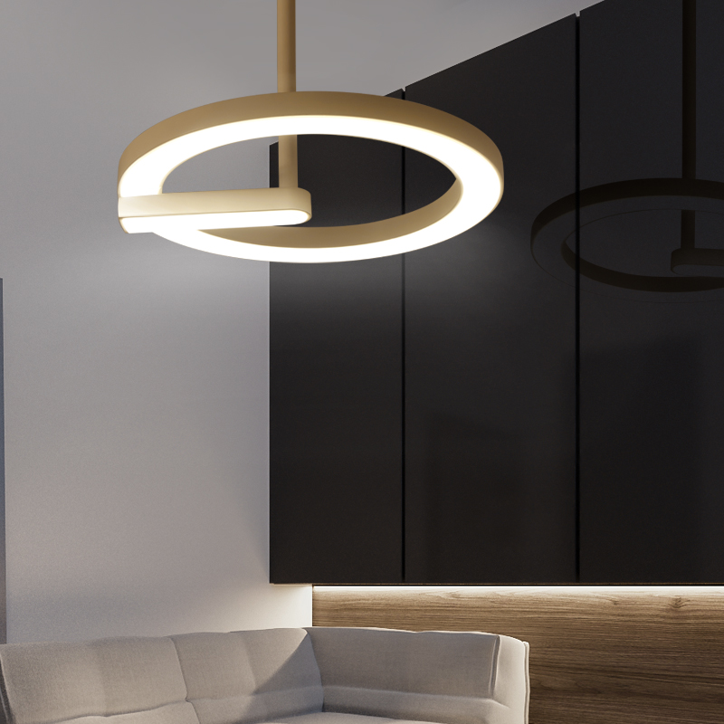 Modern led Pendant Light for Kitchen Dining Room Living Room Suspension luminaire Hanging Black White Pendant Lamp Fixtures купить