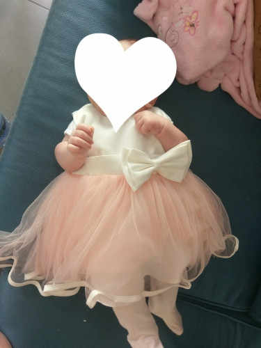 4b44206cb8c6d HAPPYPLUS Baby Dress Birthday 1 Year 2 Years White Big Bow Pink Baby Girl  Dresses Wedding Summer Infant Beach Dress Princess