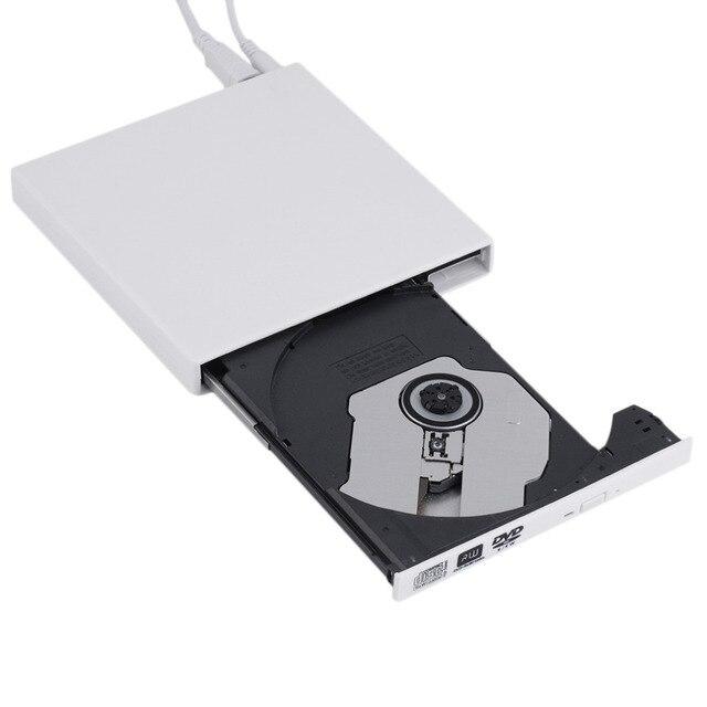 New White USB 2.0 Externo de CD +-DVD-RAM RW DVD +-RW Burner Escritor Para Laptop PC atacado