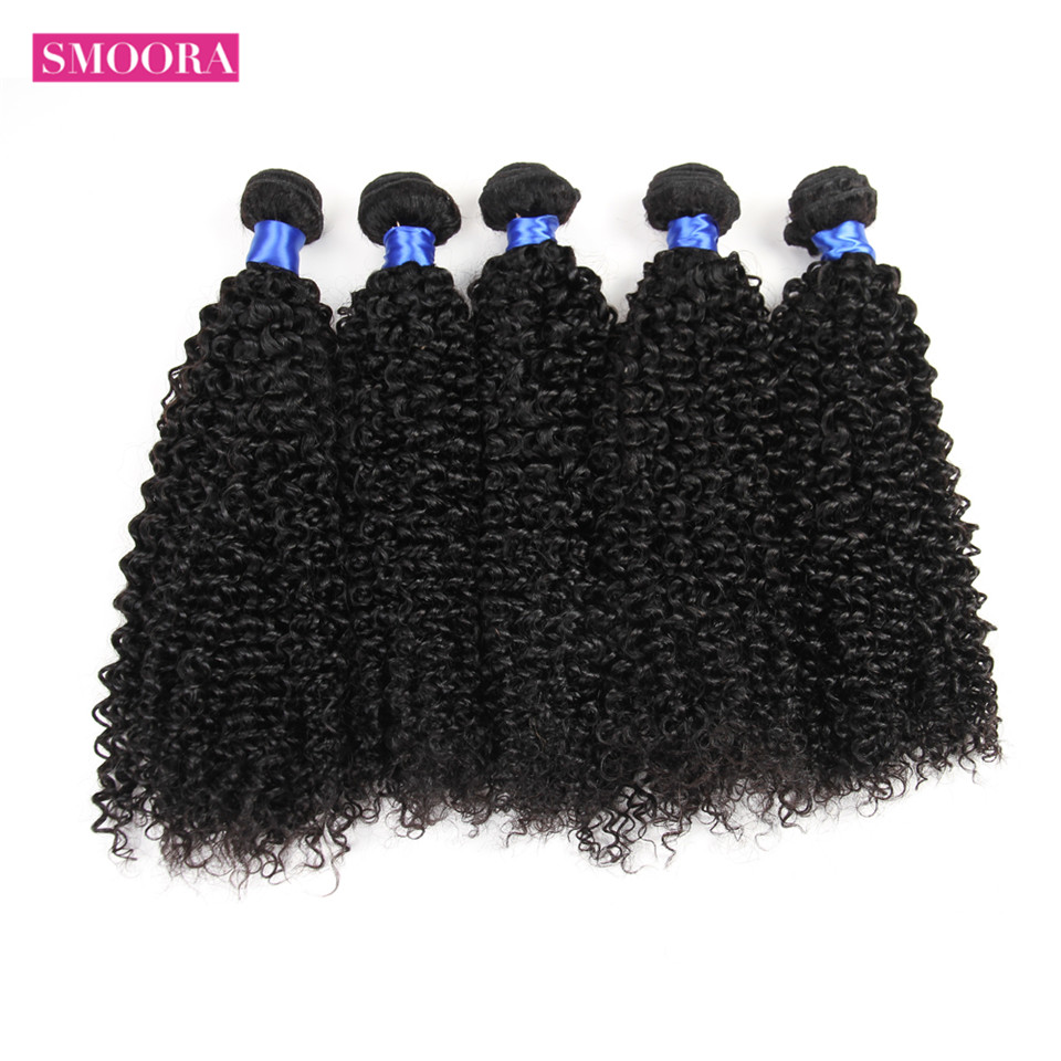 Mongolian Kinky Curly Hair Smoora Hair Products 5 Pcs/ Lot Non Remy Wholesale Mongolian Afro Kinky Curly Human Hair Bundles ...