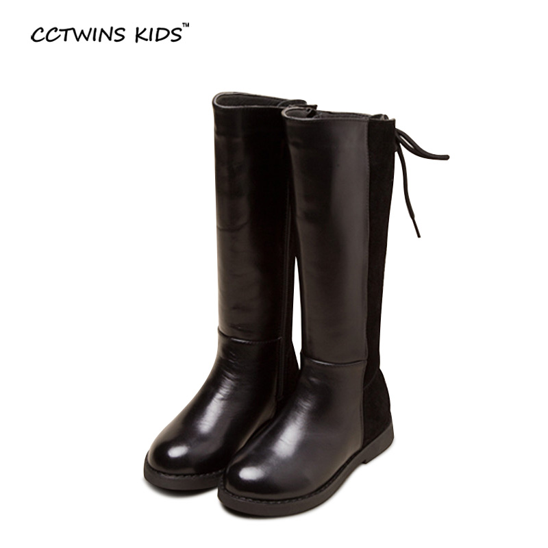 CCTWINS KIDS 2017 Winter Children Genuine Leather Boot Baby Girl Fashion Boot Kid Over Knee High Toddler Brand Black Boot CH1350 cctwins kids 2017 children brand high boot kid fashion over the knee boot baby girl toddler genuine leather black shoe c1312
