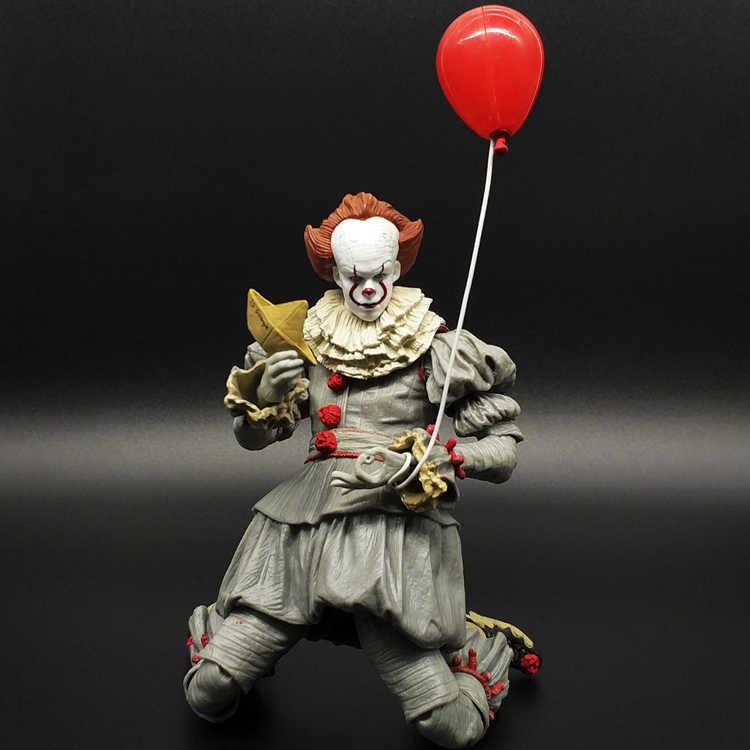 См 2019 18 см Neca Стивен Кинг это Pennywise Джокер клоун подвижные ПВХ  фигурку игрушечные лошадки adee1b085b0fe
